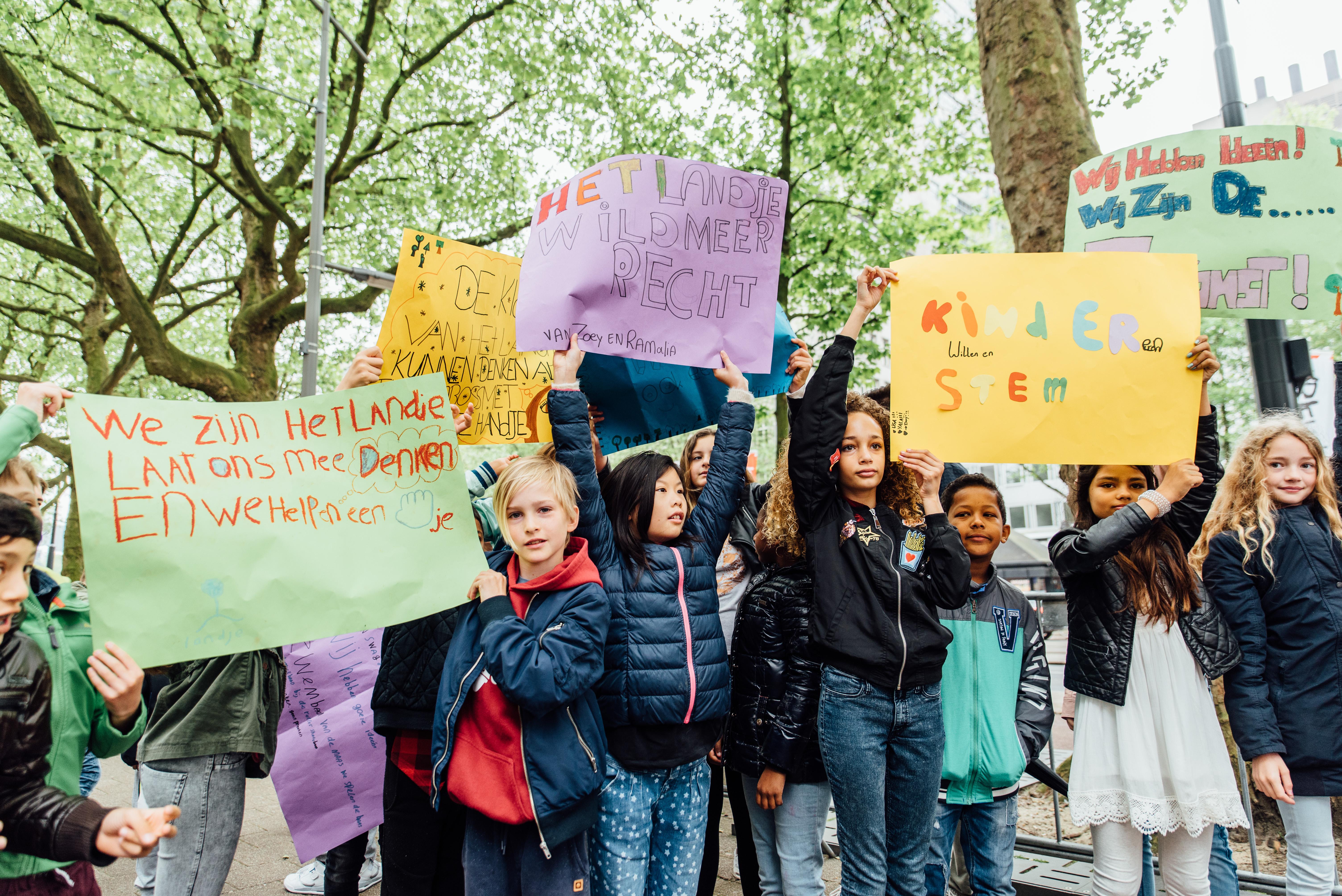 Tijdens de manifestatie op 19 mei, Foto: Gaby Jongenelen